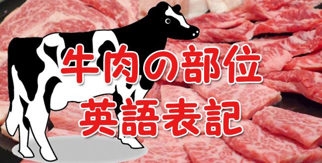 英語で牛肉の部位